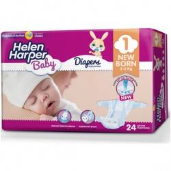 HELEN HARPER BABY Подгузники Newborn 2-5 кг. (24 шт.)