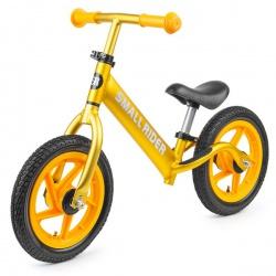 Беговел из чистого алюминия Small Rider Foot Racer AIR, надувные колеса (золотистый металлик)