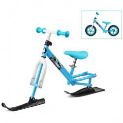 Беговел с лыжами и колесами Small Rider Combo Racer (2 в 1) (бело-синий)