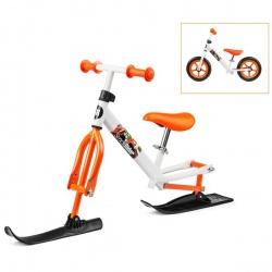 Беговел с лыжами и колесами Small Rider Combo Racer (2 в 1) (бело-оранжевый)
