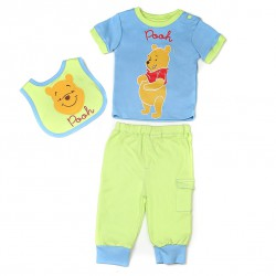 Комплект одежды ВИННИ, 3 предмета, голубой, 9 мес. размер 74