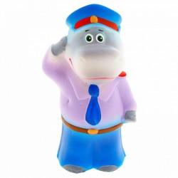 Резиновая игрушка Бегемот-полицейский