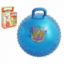 Мяч-попрыгун с ручкой Девчонки и Мальчишки массажный, d=55 см, 420 гр, МИКС