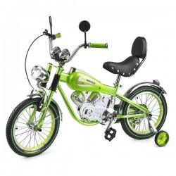 Детский коллекционный велосипед-мотоцикл Small Rider Motobike Vintage (зеленый)