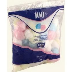 Bella Ватные шарики цветные 100 шт