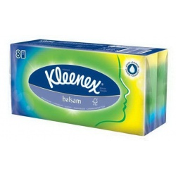 Kleenex Салфетки бумажные с бальзамом (80 шт.)