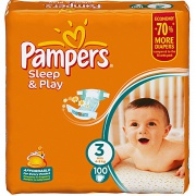 PAMPERS Подгузники Sleep & Play Midi (5-9 кг) Джайнт Упаковка 100