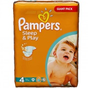 PAMPERS Подгузники Sleep & Play Maxi (9-14 кг) Джайнт Упаковка 86