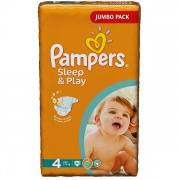 PAMPERS Подгузники Sleep & Play Maxi (7-14 кг) Джамбо Упаковка 68