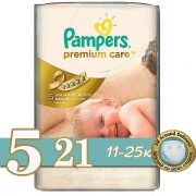 PAMPERS Подгузники Premium Care Junior (11-18 кг) Микро Упаковка 18