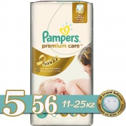 PAMPERS Подгузники Premium Care Junior (11-18 кг) 56 шт.
