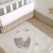 FERETTI Комплект в кроватку 6 пр. Sestetto high long + удлинитель LITTLE BEAR beige