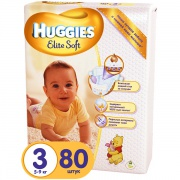 Подгузники Huggies Elite Soft (3) 5-9 кг 80 шт.