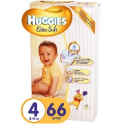 Подгузники Huggies Elite Soft (4) 8-14 кг 66 шт.