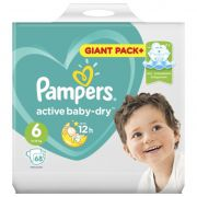 PAMPERS Подгузники Active Baby-Dry Extra Large (13-18 кг) Упаковка 68